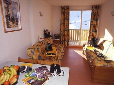 Photo for 100m from resort center, 1st floor, balcony, tv, ski locker, 23m², Peyragudes