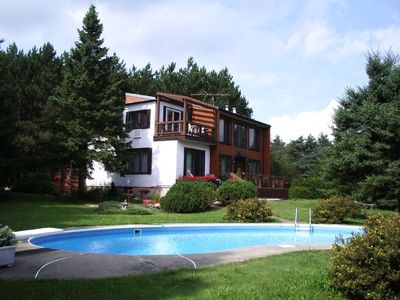 Photo for In Frelighsburg, Luxury European Style Cottage,Solarium,Pool, 30 acres Park-like