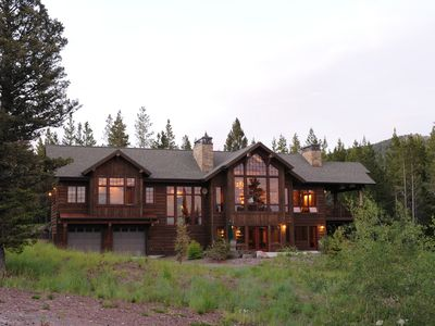 A large home nestled in the trees with amazing views of the Bridger Mountains