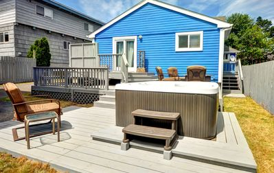 Photo for Dog-friendly, artistic getaway w/ private hot tub, entertainment, beach nearby!