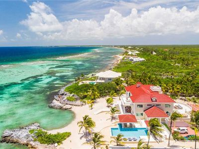 Photo for Villa Del Mare: Ritzy Oceanfront Estate w/Gated Privacy, Pool, Swim-Up Bar, & Secluded Beach!