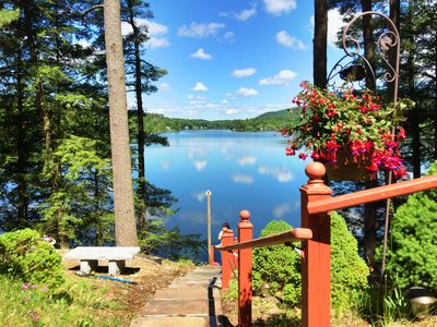 Photo for INCREDIBLE LAKE FRONT HOUSE AND DOCK ON LAKE BUEL.SWIM FISH BOAT