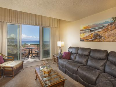 Photo for Spacious Ocean View condo with shared hot tub, pool, & nearby Kahana Beach!