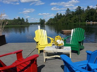 Photo for Gorgeous Private 700ft On Shadow Lk 6 bedrooms + Guest House - Coboconk