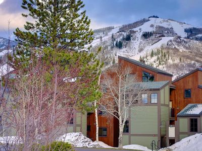 Photo for End of Summer Deals! Beautifully Updated Studio w/Mountain Views, Pool, Hot Tub, Short Walk to Base