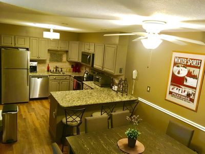 Very large kitchen with brand new stainless appliances.  Everything you need