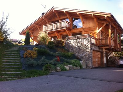 Photo for MAGNIFICENT CHARMING CHALET RECENT COMBLOUX VIEW MONT BLANC VERY WELL SITUATED