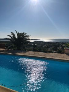Photo for 3 bedroom villa, pool with exceptional sea view