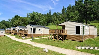 Photo for Camping Les Framboiseilles. Cottage rental 4 seasons comfortable.