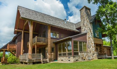 Photo for Astonishing 4 Bedroom Ski in/ Ski Out home with a bubbling outdoor hot tub!