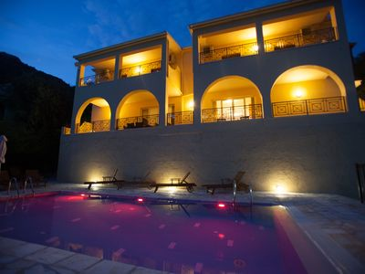 Photo for Villa Christina Nissaki Corfu  with WI-FI, A/C,close to beach with Pool