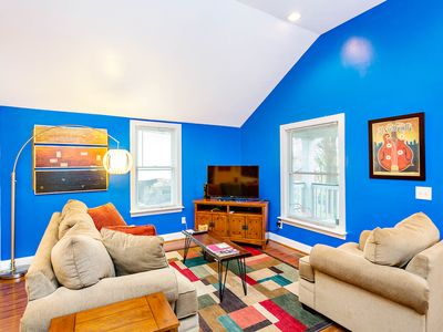 Photo for NEW LISTING! Colorful home w/ fenced yard, entertainment-central location