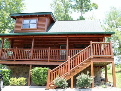 Photo for Two bedroom two bathroom cabin near Pigeon Forge, Pet Friendly Great Rates!