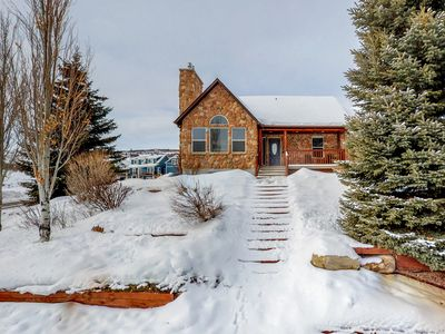Photo for NEW LISTING! Gorgeous Bear Lake home w/private hot tub & panorama view