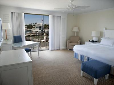 Photo for New listing! Design Harborside King unit with balcony, walk to Main Pool area!
