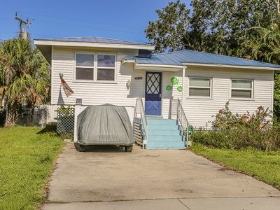 Photo for Enjoy your stay at 131 Delmar in this cozy 2 bedroom/2-bathroom pet friendly beach cottage that is located on the north end of Fort Myers Beach.