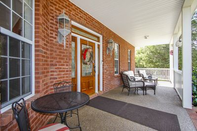 Relax on any of the three furnished front porches.