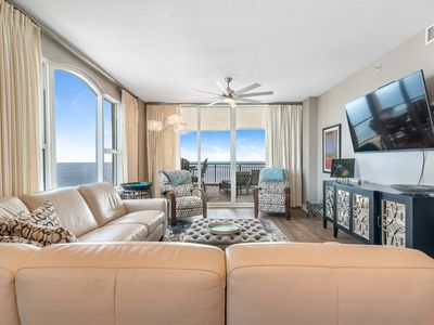 Photo for Beach Colony East 8A- Beach Front unit with large terrace & amazing views!