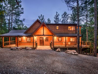 Photo for Crystal Ridge Spa Cabin - Spectacular Mountain Ridge Spa Retreat with Game Room