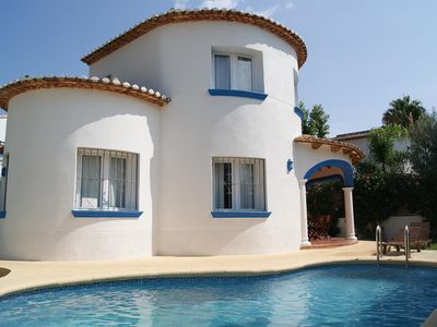 Photo for Beautiful and comfortable villa in Denia, on the Costa Blanca, Spain  with private pool for 6 persons