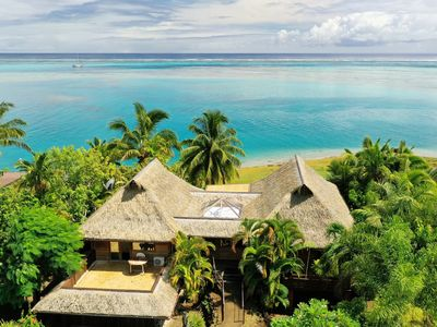 Photo for Blue Lagoon Moorea | 3 beds Beachfront Villa with a plunge pool.