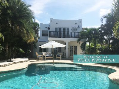 Photo for The Pineapple Villa: Chic 4BD Tropical Paradise near the Beaches