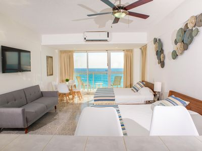 Photo for Stunning!! Beachfront 2BRM Condo on Cancun Beach! Step Onto Sand & Nightlife!