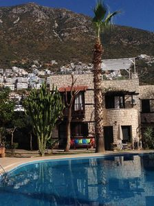 Photo for Kalkan 2 bedroomed property with great roof terrace and 185 sq metre shared pool