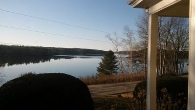 View from the glassed porch.