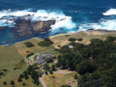 The SeaStack Vacadtion Rental - a 5-acre estate on the edge of the Pacific.