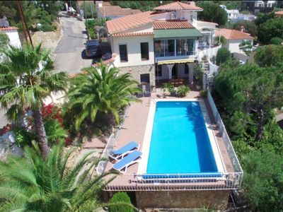 Photo for Villa with  privatpool + sea views , W-Lan + aircondition