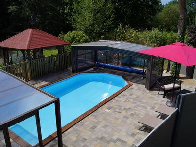 Photo for Charming cottage 4/5 people with access to the heated and covered swimming pool