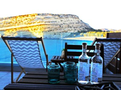 Photo for Matala Caves seafront apartment