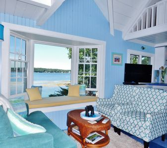Photo for SeaGlass Cottage: Magical, Private Oceanfront Retreat in E. Boothbay! Dock & AC!