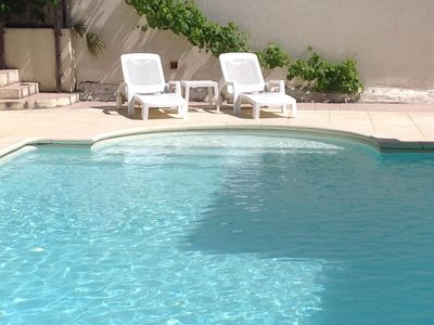 Photo for Spacious Four Bed two bathroom Villa, Large Private Pool, Canal Du Midi village