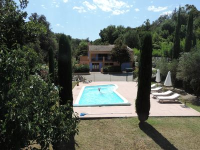 Photo for Luxury Grimaud Villa Apartment nr St Tropez, private exclusive use heated pool