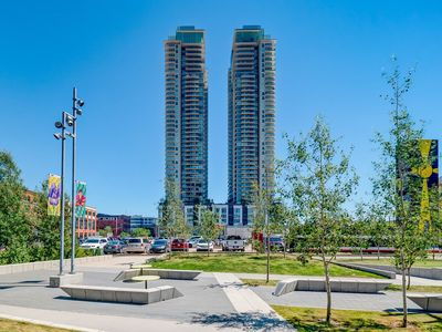 Photo for Lux downtown suite near Stampede, casino, river, festivals, shopping & LRT