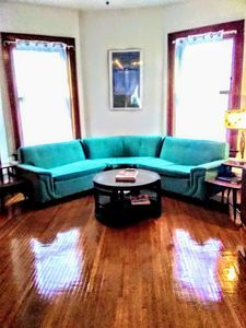 Photo for Swanky mid century modern meets 70s funk! Stylized pad w bar and record lounge!