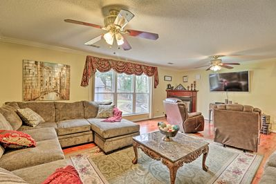 There are 3 bedrooms, 2 bathrooms, and accommodations for 7!