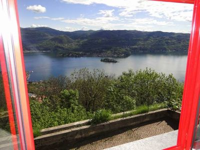 Photo for Madonna Del Sasso: House with garden and great views of Lake Orta