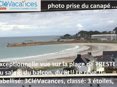 Photo for exceptional sea view 50m beach Trestel, INTERNET 3CléVacances, park, 2p, calm