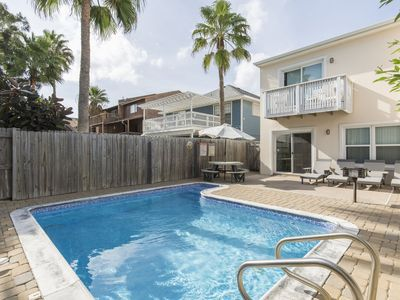 Photo for Charming Townhouse with Private Heated Pool! Just a 1/2 block from the beach!
