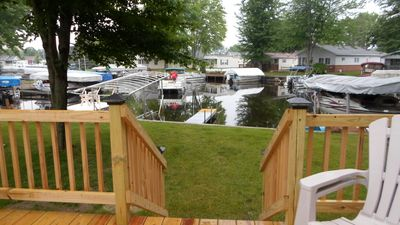 Front yard and dock