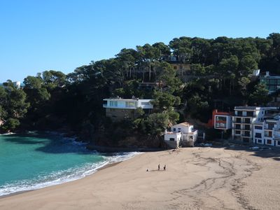 Photo for House overlooking the beach of Sa Riera, magnificent chill out and outdoor jacuzzi