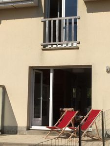 Photo for terraced house very well located foot dune paths, 400m beach view