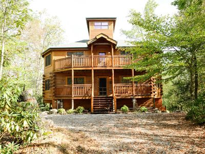 Photo for SMOKY MT. DREAM LODGE, Private Indoor Heated Pool, Huge Theatre Room, Firepit