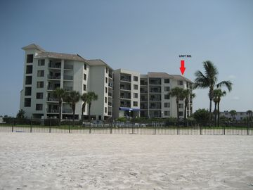Caprice 501 Top Floor End Unit Right on the Beach