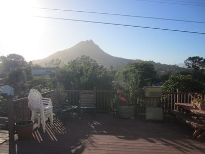 View of Bishop's Peak from backyard