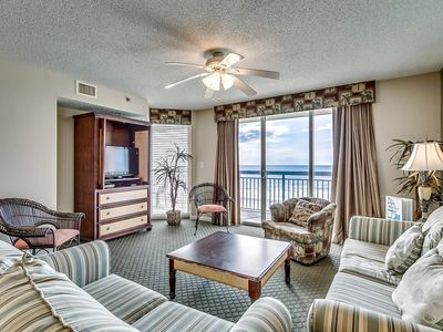 Photo for Crescent Shores 303, 4 Bedroom Beachfront Condo, Hot Tub and Free Wi-Fi!