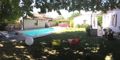 Photo for Charming Provencal house with swimming pool near Avignon.